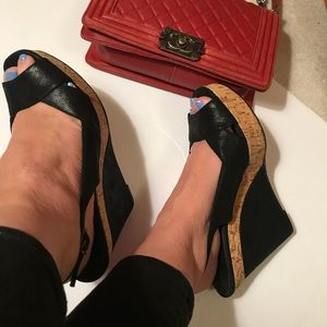 Donald J. Pliner Couture Cork Platform Sandals 11